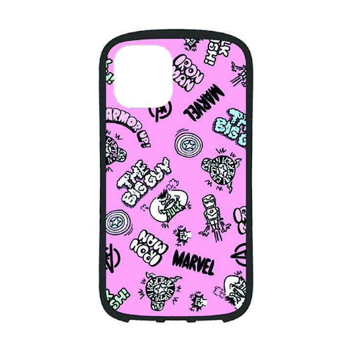 iPhone 11 Pro ケース MARVEL ハイブリッドタフケース アベンジャーズ/ピンク iPhone 11 Pro_0