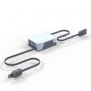 Apple認証取得の巻取式Lightning ケーブル boltBOX ホワイト