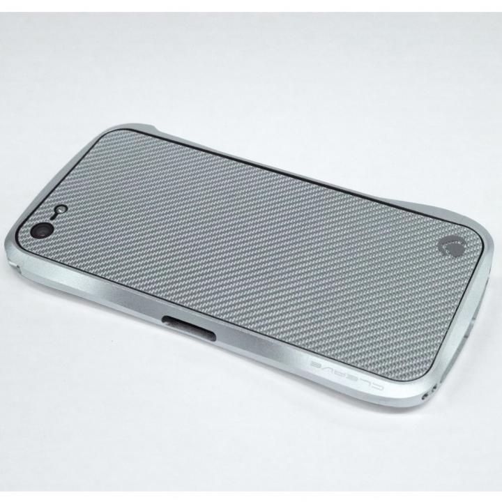 iPhone SE/5s/5 ケース Carbon Plate  iPhone5 シルバーカーボン_0