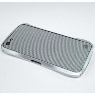 【iPhone SE/5s/5ケース】Carbon Plate  iPhone5 シルバーカーボン