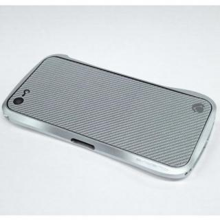 iPhone SE/5s/5 ケース Carbon Plate  iPhone5 シルバーカーボン