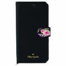 Flower Garden PUレザー手帳型ケース  ブラック iPhone XS/X