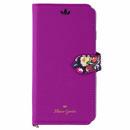 Flower Garden PUレザー手帳型ケース  マゼンタ iPhone XR