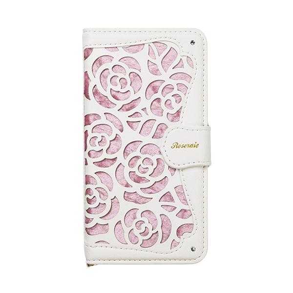 iPhone XR ケース La Roseraie PU手帳型ケース ピンク iPhone XR_0
