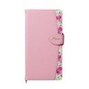Fleur ボタニカル柄PU手帳型ケース ピンク iPhone XR