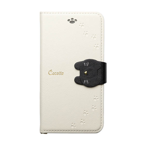 iPhone XS/X ケース Cocotte PUレザー手帳型ケース  ホワイト iPhone XS/X_0