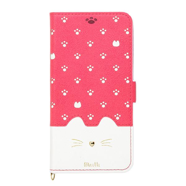 iPhone XS Max ケース Minette PUレザー手帳型ケース ヴィヴィッドピンク iPhone XS Max_0
