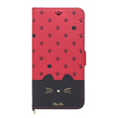 Minette PUレザー手帳型ケース レッドブラック iPhone XR