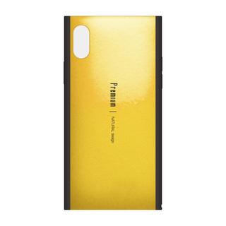 【iPhone XSケース】Premium 背面ケース  イエロー iPhone XS