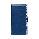 アクセントボーダー PU手帳型ケース ブルー iPhone XR