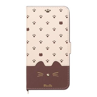 【iPhone XS Maxケース】Minette PUレザー手帳型ケース ブラウン iPhone XS Max【9月下旬】