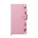 Fleur ボタニカル柄PU手帳型ケース ピンク iPhone XS Max