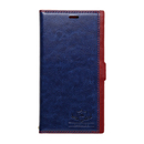 FLAMINGO PUレザー手帳型ケース  ブルー iPhone XR