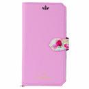 Flower Garden PUレザー手帳型ケース  ピンク iPhone XR