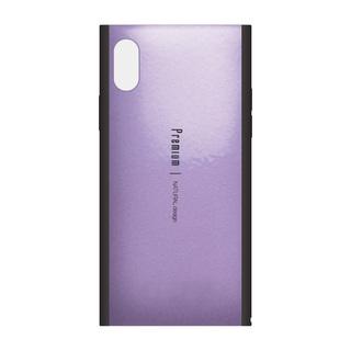 【iPhone XSケース】Premium 背面ケース  パープル iPhone XS【9月下旬】