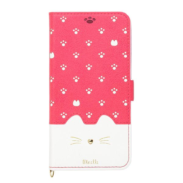 iPhone XR ケース Minette PUレザー手帳型ケース ヴィヴィッドピンク iPhone XR_0