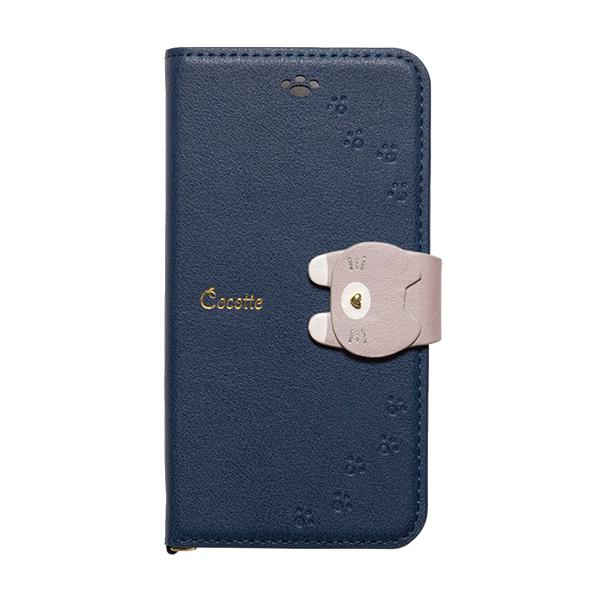 【iPhone XS/Xケース】Cocotte PUレザー手帳型ケース  ネイビー iPhone XS/X_0