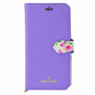【iPhone XSケース】Flower Garden PUレザー手帳型ケース  ラベンダー iPhone XS【9月下旬】