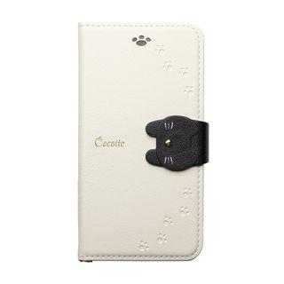 【iPhone XRケース】Cocotte PUレザー手帳型ケース  ホワイト iPhone XR【9月下旬】