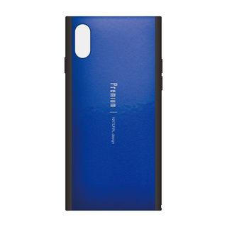 Premium 背面ケース  ブルー iPhone XS