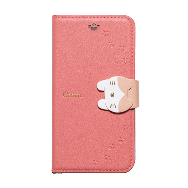 iPhone XS/X ケース Cocotte PUレザー手帳型ケース  ピンク iPhone XS/X_0