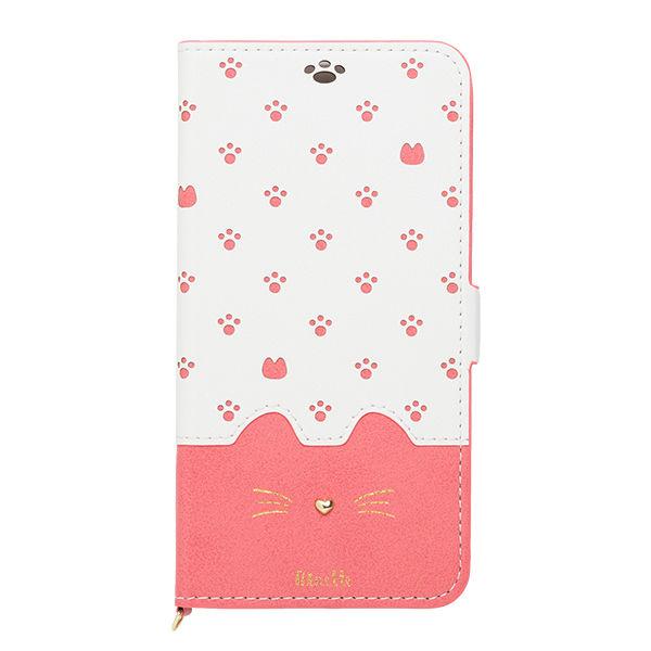 iPhone XR ケース Minette PUレザー手帳型ケース ピンク iPhone XR_0
