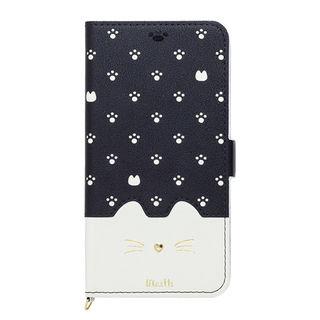 iPhone XR ケース Minette PUレザー手帳型ケース ブラック iPhone XR