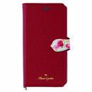Flower Garden PUレザー手帳型ケース  レッド iPhone XR