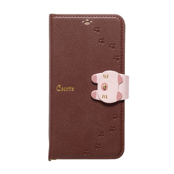 【iPhone XS/Xケース】Cocotte PUレザー手帳型ケース  ブラウン iPhone XS/X_0
