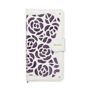 【iPhone XRケース】La Roseraie PU手帳型ケース パープル iPhone XR【9月下旬】