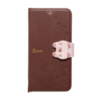 【iPhone XSケース】Cocotte PUレザー手帳型ケース  ブラウン iPhone XS【9月下旬】
