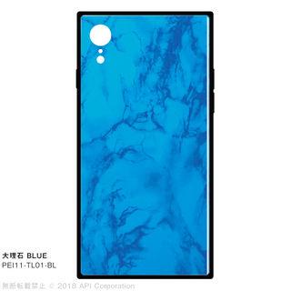 iPhone XR ケース EYLE TILE iPhone背面ケース 大理石 ブルー iPhone XR