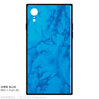 【iPhone XRケース】EYLE TILE iPhone背面ケース 大理石 ブルー iPhone XR