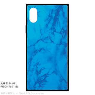 【iPhone XS/Xケース】EYLE TILE iPhone背面ケース 大理石 ブルー iPhone XS/X
