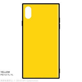 【iPhone XS Maxケース】EYLE TILE iPhone背面ケース イエロー iPhone XS Max