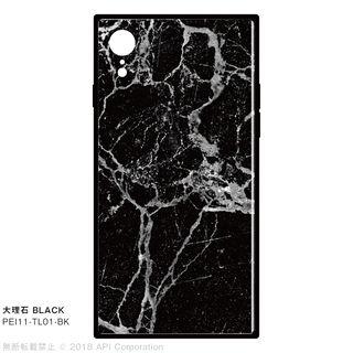 iPhone XR ケース EYLE TILE iPhone背面ケース 大理石 ブラック iPhone XR