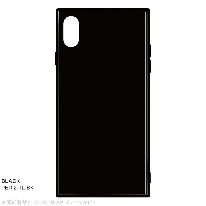 iPhone XS Max ケース EYLE TILE iPhone背面ケース ブラック iPhone XS Max_0