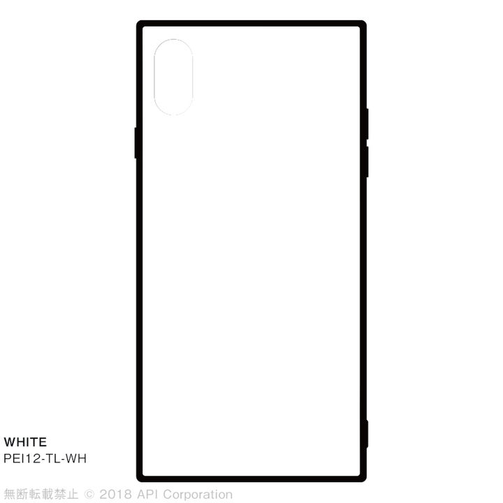 iPhone XS Max ケース EYLE TILE iPhone背面ケース ホワイト iPhone XS Max_0