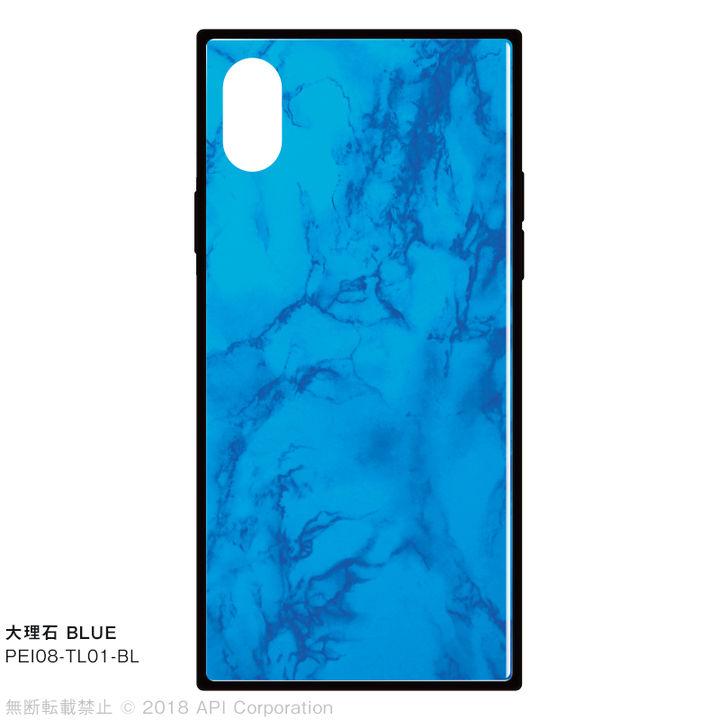 iPhone XS/X ケース EYLE TILE iPhone背面ケース 大理石 ブルー iPhone XS/X_0
