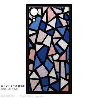 【iPhone XRケース】EYLE TILE iPhone背面ケース ステンドグラス ブルー iPhone XR