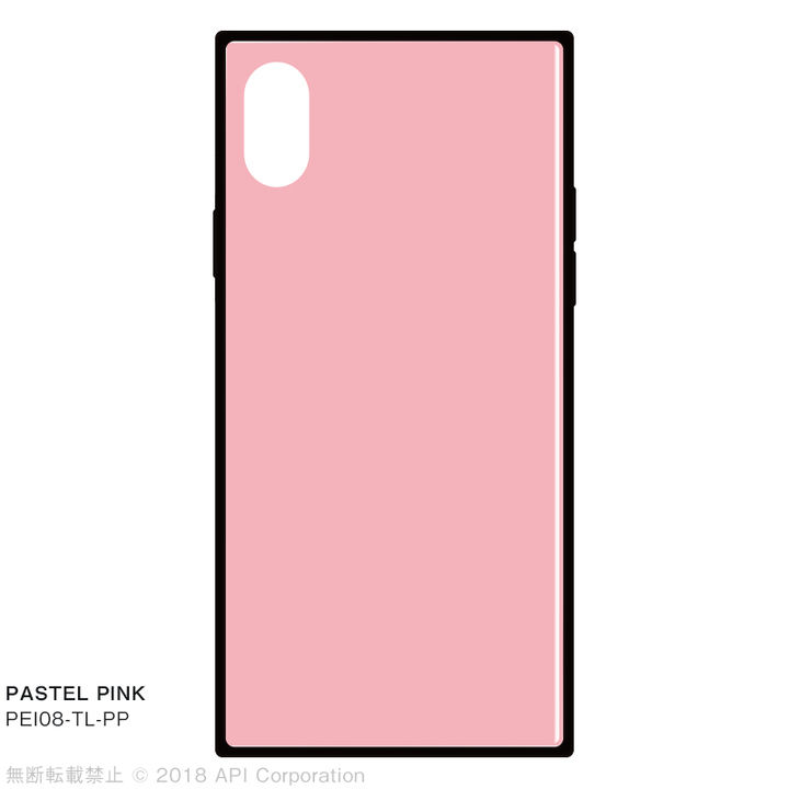 iPhone XS/X ケース EYLE TILE iPhone背面ケース パステルピンク iPhone XS/X_0