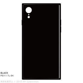 【iPhone XRケース】EYLE TILE iPhone背面ケース ブラック iPhone XR