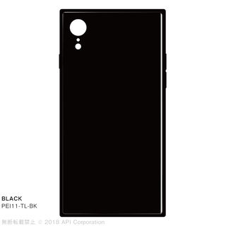 iPhone XR ケース EYLE TILE iPhone背面ケース ブラック iPhone XR