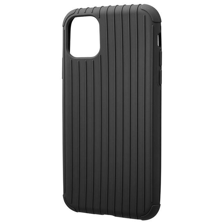 iPhone 11 ケース GRAMAS COLORS Rib Light 耐衝撃TPUケース ブラック iPhone 11_0