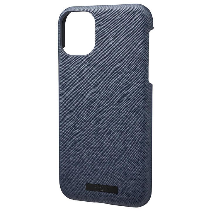 GRAMAS COLORS EURO Passione シェル型PUレザーケース ネイビー iPhone 11_0