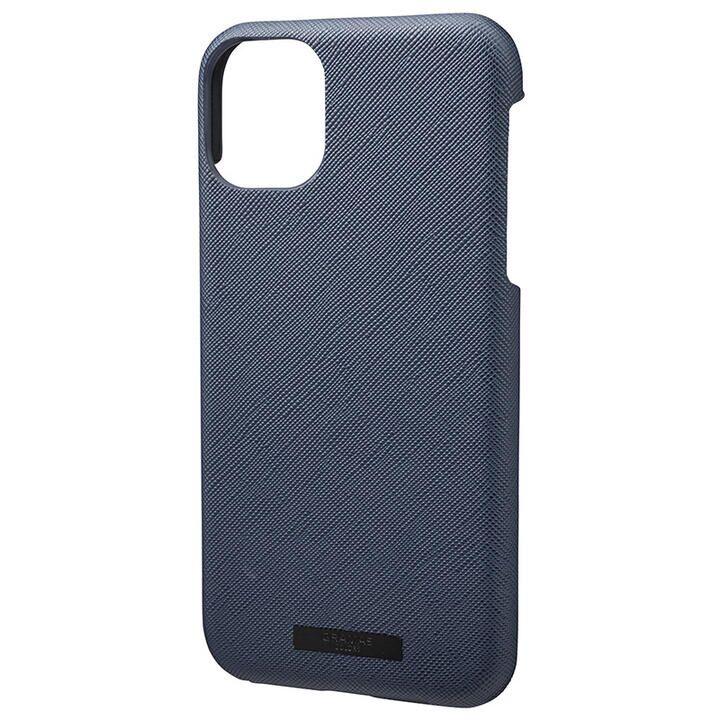 iPhone 11 ケース GRAMAS COLORS EURO Passione シェル型PUレザーケース ネイビー iPhone 11_0