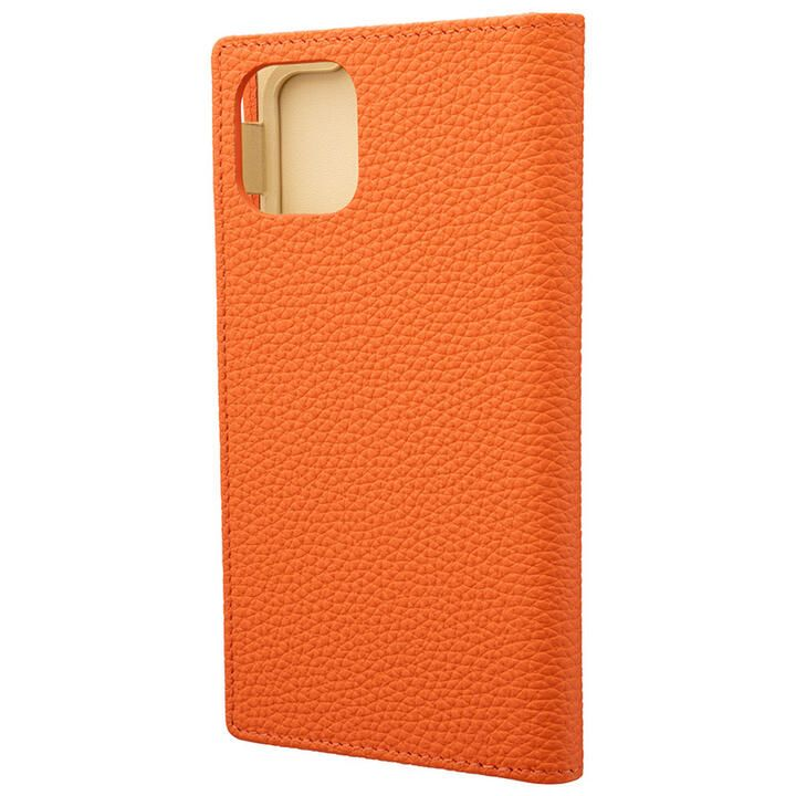 iPhone 11 ケース GRAMAS Shrunken-calf レザー手帳型ケース オレンジ iPhone 11_0