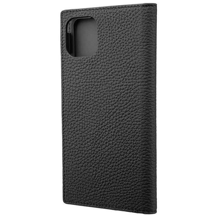GRAMAS Shrunken-calf レザー手帳型ケース ブラック iPhone 11 Pro Max_0