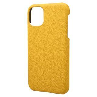 iPhone 11 ケース GRAMAS Shrunken-calf レザー背面ケース イエロー iPhone 11