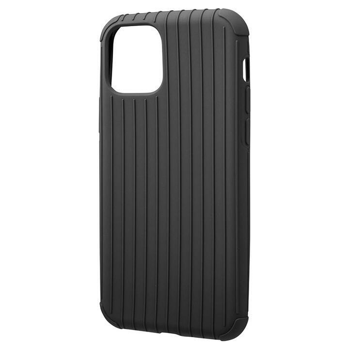 GRAMAS COLORS Rib Light 耐衝撃TPUケース ブラック iPhone 11 Pro_0